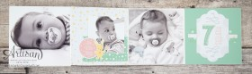 Stampin´ Up! - Artisan Blog Hop - Project Live - Hallo Baby - Mini Album - Stanz und Falzbrett für Geschenkschachteln - 7