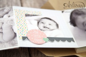 Stampin´ Up! - Artisan Blog Hop - Project Live - Hallo Baby - Mini Album - Stanz und Falzbrett für Geschenkschachteln - 18