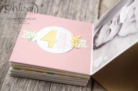 Stampin´ Up! - Artisan Blog Hop - Project Live - Hallo Baby - Mini Album - Stanz und Falzbrett für Geschenkschachteln - 17
