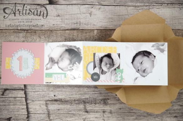 Stampin´ Up! - Artisan Blog Hop - Project Live - Hallo Baby - Mini Album - Stanz und Falzbrett für Geschenkschachteln - 16