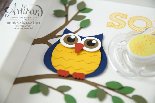 Stampin´ Up! - Artisan Design Team - Shadow Box - Erinnerungsrahmen zur Geburt - Mini Babybauch - Cameo - 2