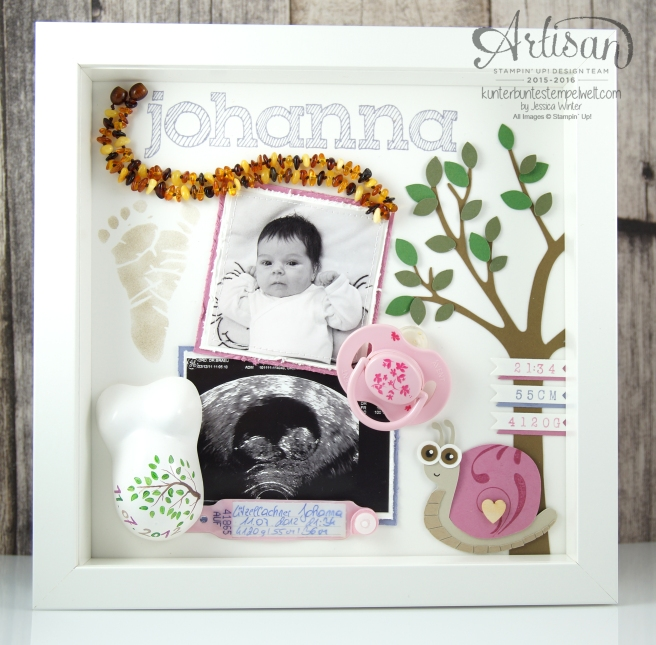 Stampin´Up! - Shadow Box - Erinnerungsbild - Epic Alphabet - Mini Gipsbauch - 1