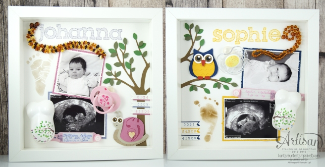 Stampin´Up! - Shadow Box - Erinnerungsbild - Epic Alphabet - Mini Gipsbauch - 15