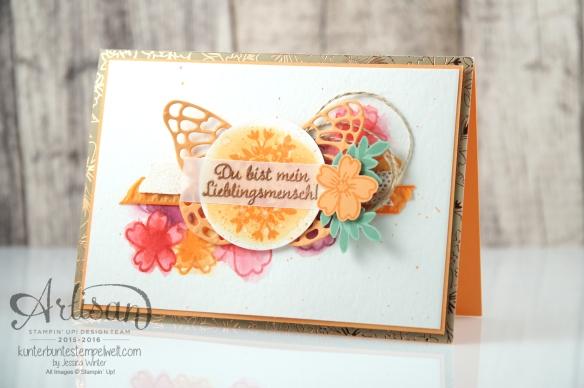 Stampin´ Up! - Für Lieblingsmenschen - Textured Impressions Prägeformen Bezaubernde Blüten - Thinlits Schmetterlinge - 1