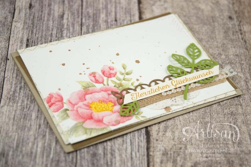 Stampin´ Up! - Artisan Design Team - Geburtstagsblumen - Thinlits Blütenpoesie - Designerpapier Marokko - 4