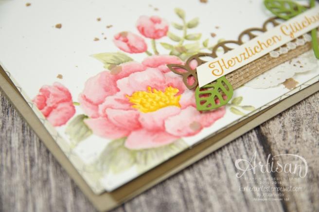 Stampin´ Up! - Artisan Design Team - Geburtstagsblumen - Thinlits Blütenpoesie - Designerpapier Marokko - 2