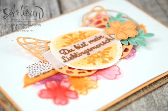 Stampin´ Up! - Für Lieblingsmenschen - Textured Impressions Prägeformen Bezaubernde Blüten - Thinlits Schmetterlinge - 3