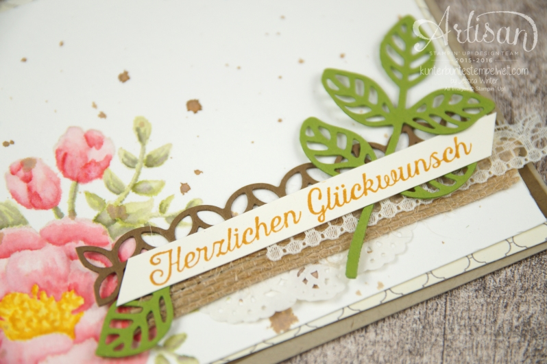 Stampin´ Up! - Artisan Design Team - Geburtstagsblumen - Thinlits Blütenpoesie - Designerpapier Marokko - 3