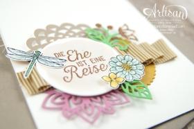Stampin´ Up! - Artisan Design Team - Thinlits Blütenpoesie- Blühende Worte - Touches Of Texture - Umschlagpapier - 10
