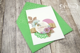 Stampin´ Up! - Artisan Design Team - Thinlits Blütenpoesie- Blühende Worte - Touches Of Texture - Umschlagpapier - 11