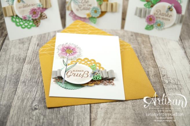 Stampin´ Up! - Artisan Design Team - Thinlits Blütenpoesie- Blühende Worte - Touches Of Texture - Umschlagpapier - 1