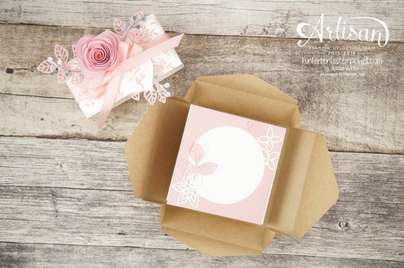 Stampin´ Up! - Minialbum - Leporello - Envelope Punch Board - Spiralblume - Blütenpoesie - 12