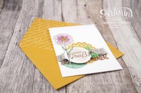 Stampin´ Up! - Artisan Design Team - Thinlits Blütenpoesie- Blühende Worte - Touches Of Texture - Umschlagpapier - 3