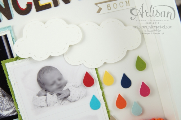 Stampin´ Up - Baby Shadow Box - Erinnerungsbild - Ribba Rahmen - 3
