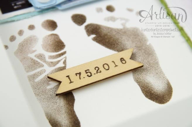 Stampin´ Up - Baby Shadow Box - Erinnerungsbild - Ribba Rahmen - 4