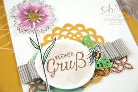 Stampin´ Up! - Artisan Design Team - Thinlits Blütenpoesie- Blühende Worte - Touches Of Texture - Umschlagpapier - 4