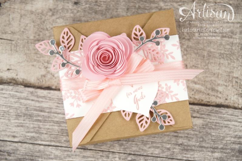 Stampin´ Up! - Minialbum - Leporello - Envelope Punch Board - Spiralblume - Blütenpoesie - 4