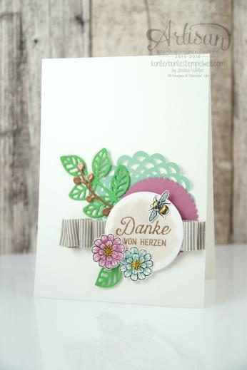 Stampin´ Up! - Artisan Design Team - Thinlits Blütenpoesie- Blühende Worte - Touches Of Texture - Umschlagpapier - 5