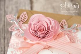 Stampin´ Up! - Minialbum - Leporello - Envelope Punch Board - Spiralblume - Blütenpoesie - 5