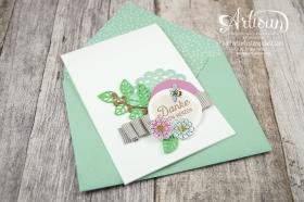 Stampin´ Up! - Artisan Design Team - Thinlits Blütenpoesie- Blühende Worte - Touches Of Texture - Umschlagpapier - 6