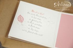 Stampin´ Up! - Minialbum - Leporello - Envelope Punch Board - Spiralblume - Blütenpoesie - 6