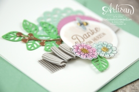 Stampin´ Up! - Artisan Design Team - Thinlits Blütenpoesie- Blühende Worte - Touches Of Texture - Umschlagpapier - 7