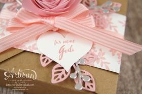 Stampin´ Up! - Minialbum - Leporello - Envelope Punch Board - Spiralblume - Blütenpoesie - 7