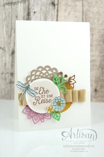 Stampin´ Up! - Artisan Design Team - Thinlits Blütenpoesie- Blühende Worte - Touches Of Texture - Umschlagpapier - 8