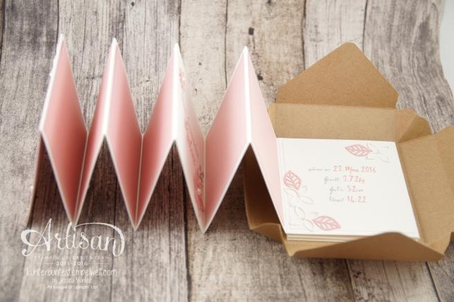 Stampin´ Up! - Minialbum - Leporello - Envelope Punch Board - Spiralblume - Blütenpoesie - 8