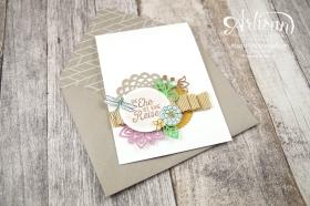 Stampin´ Up! - Artisan Design Team - Thinlits Blütenpoesie- Blühende Worte - Touches Of Texture - Umschlagpapier - 9
