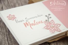 Stampin´ Up! - Minialbum - Leporello - Envelope Punch Board - Spiralblume - Blütenpoesie - 9