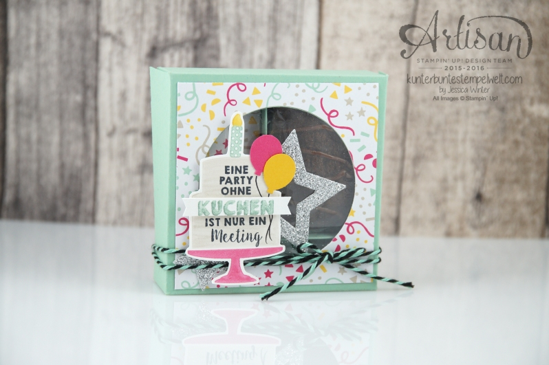 Stampin´ Up! - Party Grüße - Designerpapier im Block meine Party - Stanzenpaket Meine Party -1