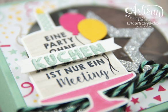 Stampin´ Up! - Party Grüße - Designerpapier im Block meine Party - Stanzenpaket Meine Party - 5
