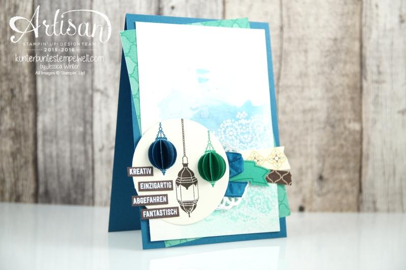 Stampin´ Up! - Artisan Design Team - Moroccan Nights - Designerpapier Marokko - Bannerweise Grüße - 1