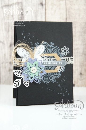 Stampin´ Up! - Artisan Design Team - Thinlits Blütenpoesie - Schmetterlingsgarten - Moroccan Nights - 1