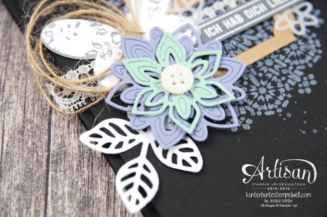 Stampin´ Up! - Artisan Design Team - Thinlits Blütenpoesie - Schmetterlingsgarten - Moroccan Nights - 2