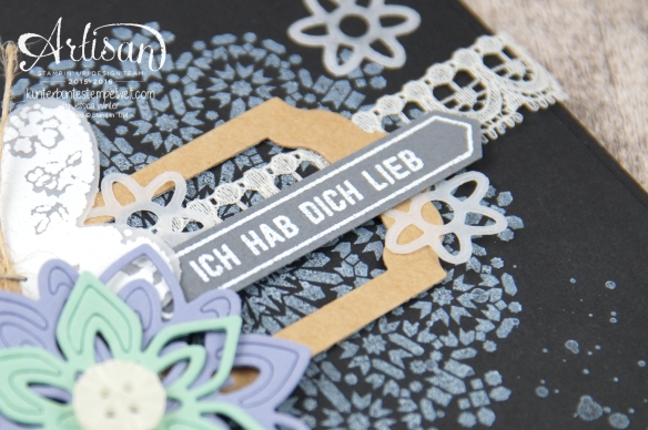 Stampin´ Up! - Artisan Design Team - Thinlits Blütenpoesie - Schmetterlingsgarten - Moroccan Nights - 4