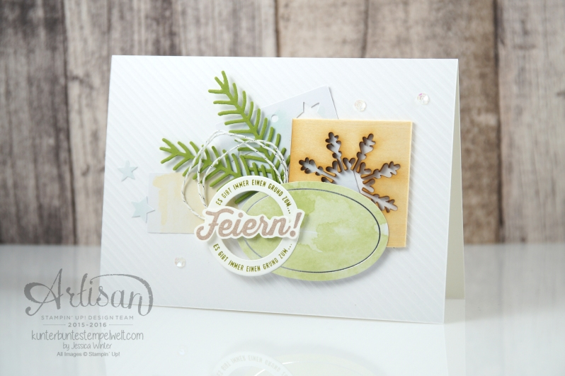 Stampin´ Up! - Artisan Blog Hop - Projektset Drauf und Dran - Nette Etiketten - Besonderes Designerpapier Eisfantasie - 6