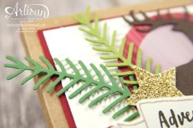 Stampin´ Up! - Adventkalender to go - Cameo - Für immer grün - Thinlitsformen Tannen und Zweige - 3