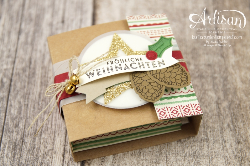 Stampin´ Up! - besonderes Designerpapier für Weihnachten - Elementstantze Adventschmuck - Thinlitsformen Tannen und Zapfen - 1