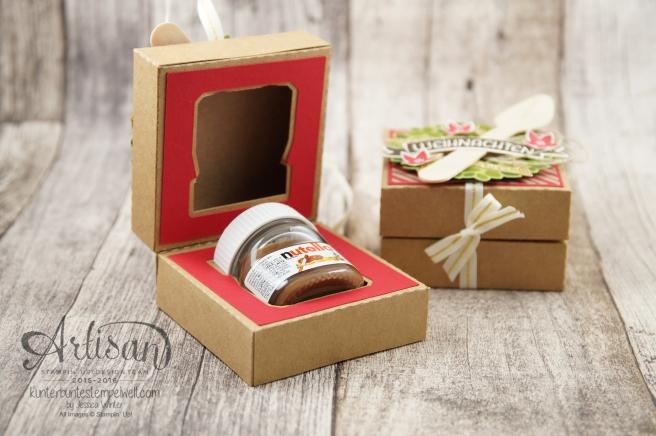 Stampin´ Up! - Willkommen Weihnacht - Designerpapier Zuckerstangenzauber - Karft Karton 1