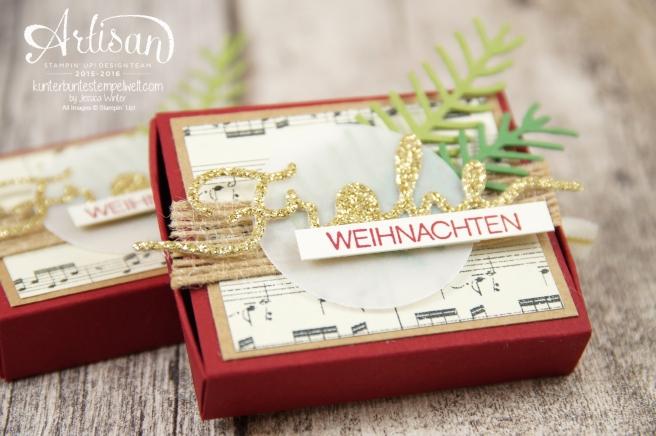 1Stampin´ Up! - besonderes Designerpapier für Weihnachten - Thinlitsformen Tannen und Zapfen - Thinlitsformen weihnachtliche Grüße - 3