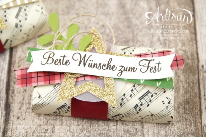 Stampin´ Up! - Besonderes Designerpapier Für Weihnachten - Motivklebeband Gemütliche Weihnachten - Adventsgrün - 1