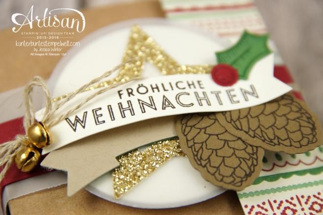 Stampin´ Up! - besonderes Designerpapier für Weihnachten - Elementstantze Adventschmuck - Thinlitsformen Tannen und Zapfen - 2