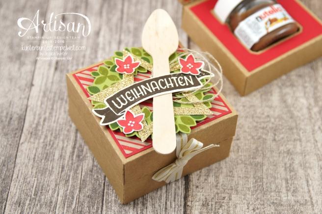 Stampin´ Up! - Willkommen Weihnacht - Designerpapier Zuckerstangenzauber - Karft Karton - 2