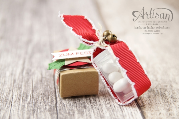 Stampin´ Up! - Mini Tic Tac Verpackung - Adventsgrün - Elementstanze Adventschmuck - 3