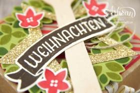 Stampin´ Up! - Willkommen Weihnacht - Designerpapier Zuckerstangenzauber - Karft Karton - 3