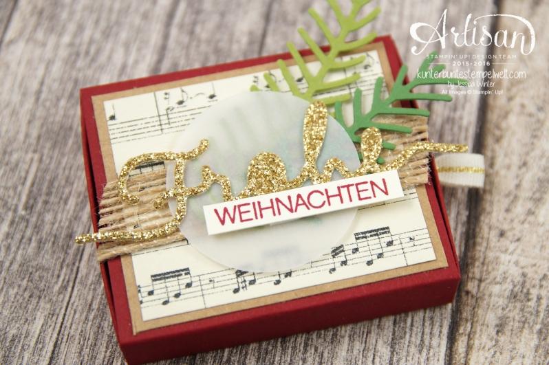 Stampin´ Up! - besonderes Designerpapier für Weihnachten - Thinlitsformen Tannen und Zapfen - Thinlitsformen weihnachtliche Grüße - 1