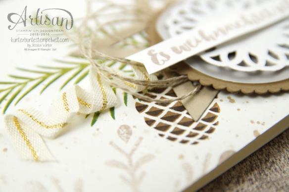 Stampin´ Up! – Weihnachtskarte - Tannenzauber – metallisches Zierdeckchen - 4