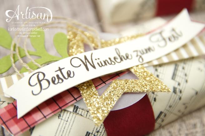 Stampin´ Up! - Besonderes Designerpapier Für Weihnachten - Motivklebeband Gemütliche Weihnachten - Adventsgrün - 2